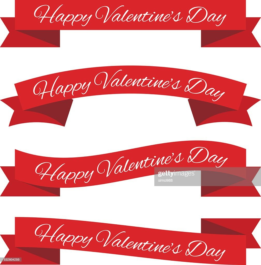 Valentine's day ribbons