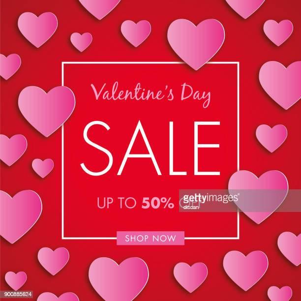 ilustraciones, imágenes clip art, dibujos animados e iconos de stock de antecedentes de la venta del día de san valentín. - carta de amor