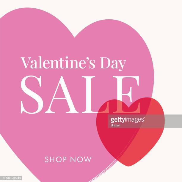valentine's day sale background with hearts frame. - gift tag note stock illustrations