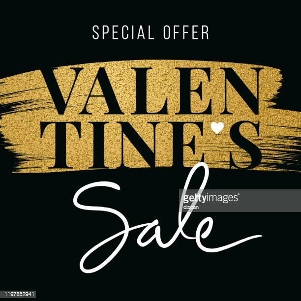 valentine's day sale design for advertising, banners, leaflets and flyers. - valentine' day stock illustrations