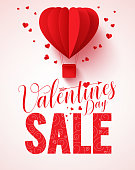 Valentines day sale text vector design for promotion