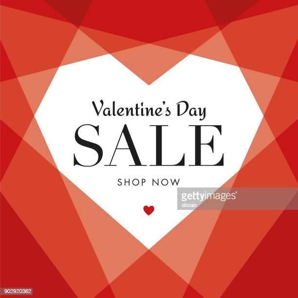 Vente de Valentin avec coeur géométrique