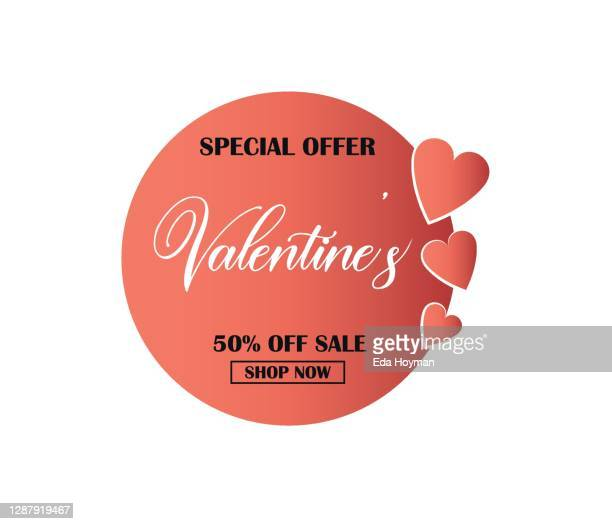valentines day shopping discount poster banner