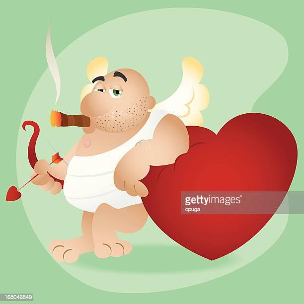 illustrations, cliparts, dessins animés et icônes de saint-valentin stupide cupidon - cupidon humour