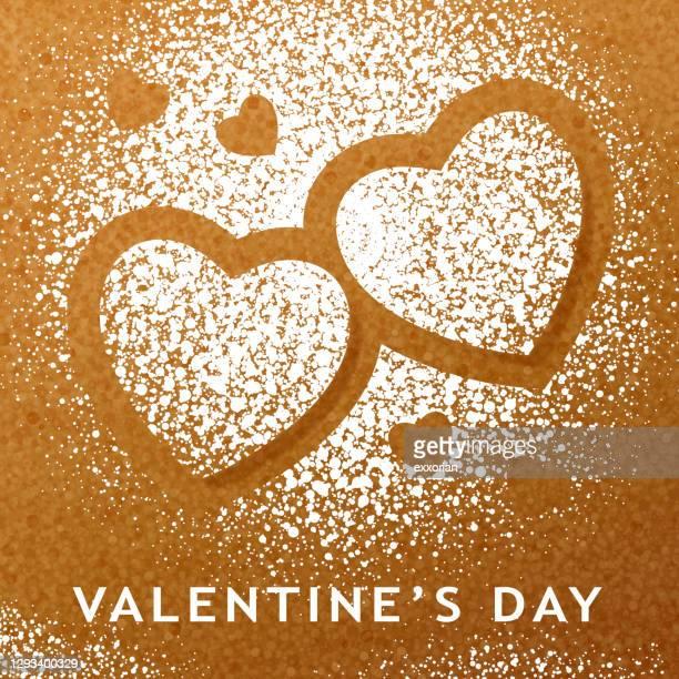 valentinstag zuckerpulver - farbpulver stock-grafiken, -clipart, -cartoons und -symbole