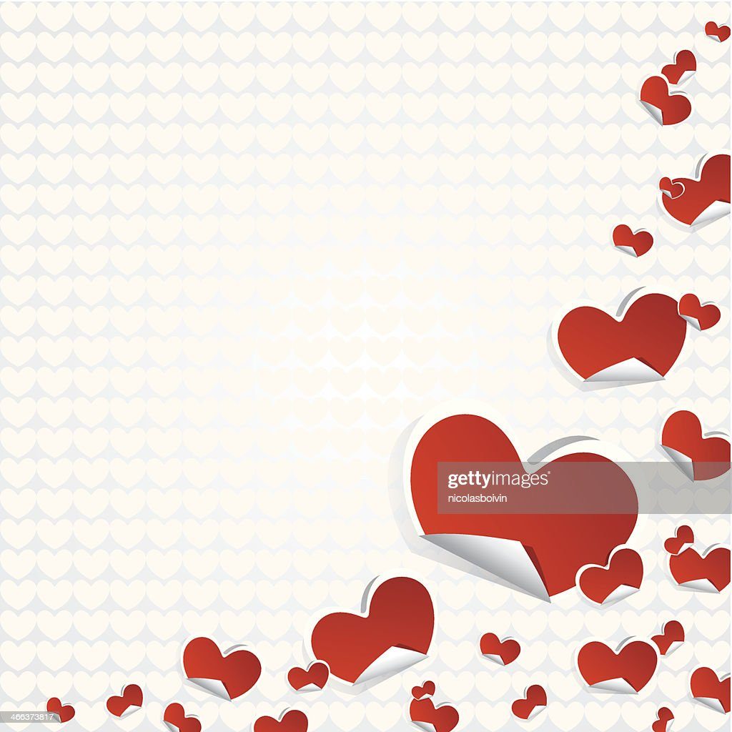 Valentines Day Symbols Hearts Background Vector Art Getty Images