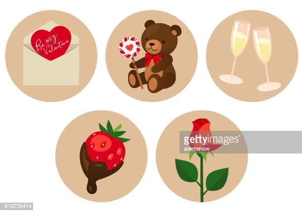 ilustraciones, imágenes clip art, dibujos animados e iconos de stock de símbolos del día de san valentín - osito de peluche