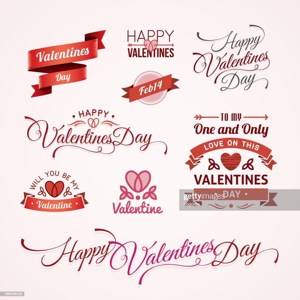 Valentines Day text designs