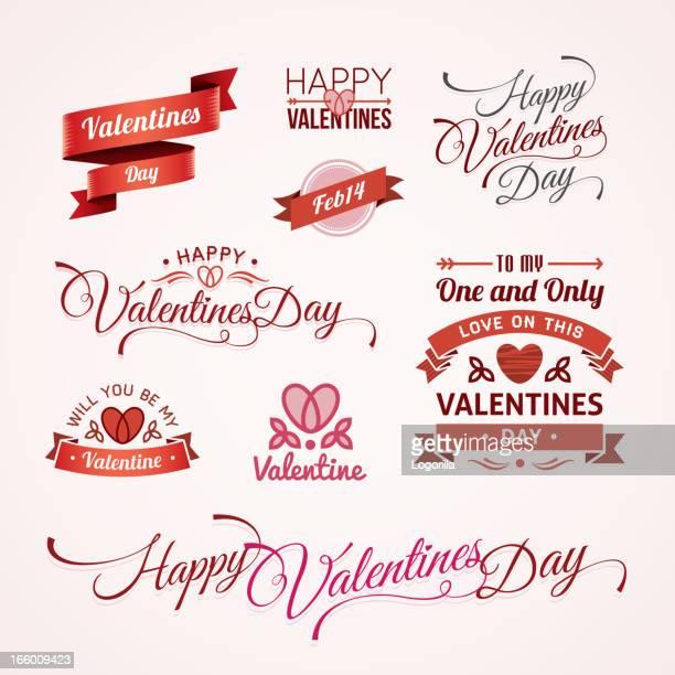 valentines day text designs - valentine card stock illustrations