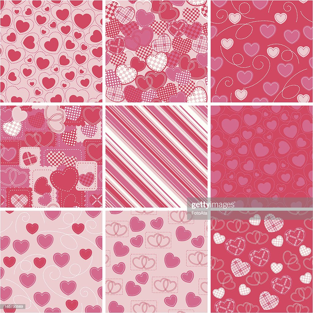 Valentine's Day wrapping paper : Vector Art