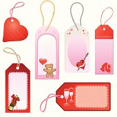 Valentine's Gift Tags (vector & jpeg)