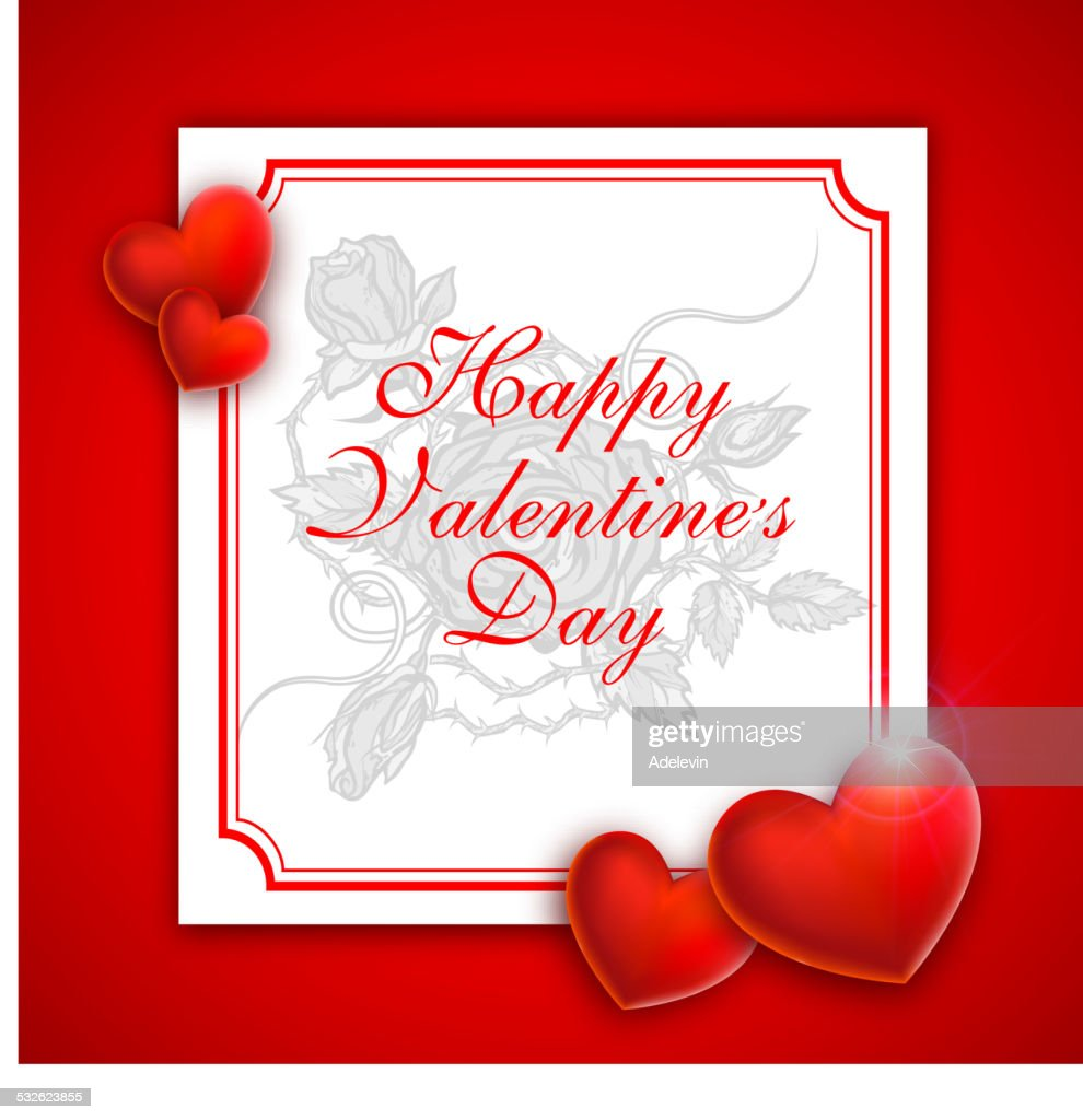 Valentines Greeting Card Vector Art Getty Images