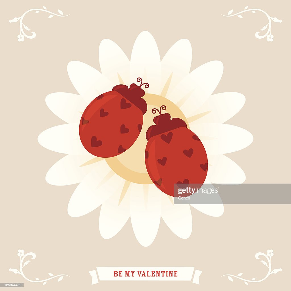 Valentines Greetings A Pair Of Love Bugs Vector Art Getty Images