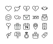 Valentine's Icons With Simple