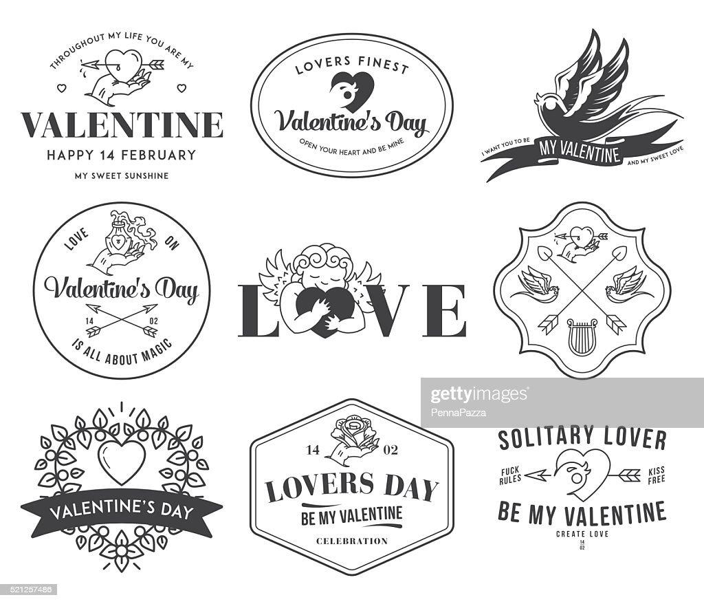 Valentines Love black on white