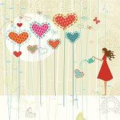 Valentine's love garden