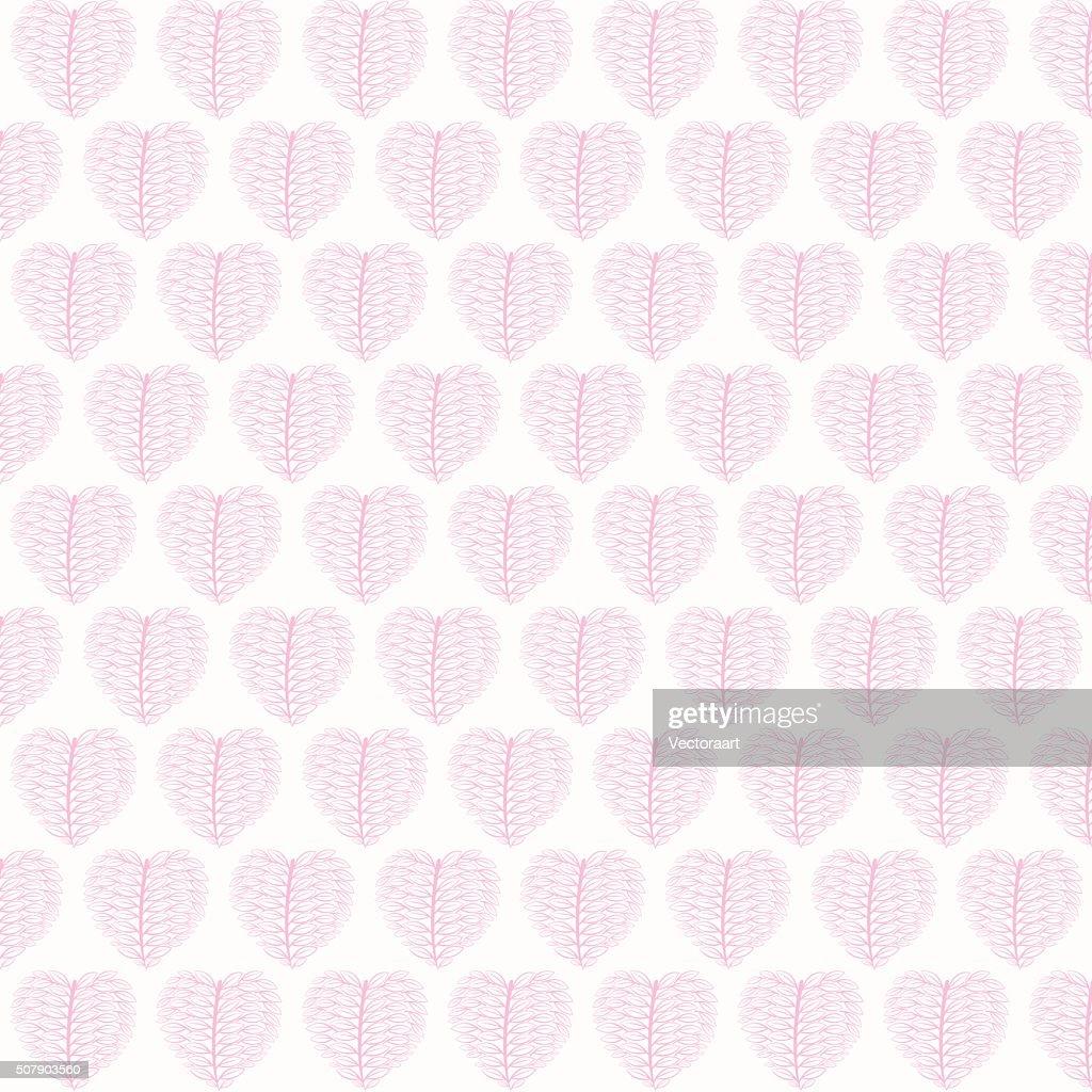 valentines pink leaf pattern