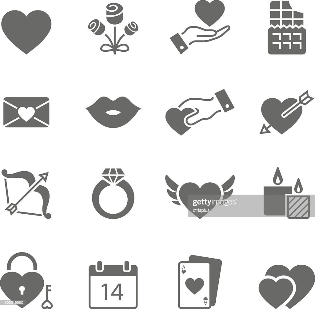 Valentines solid icons