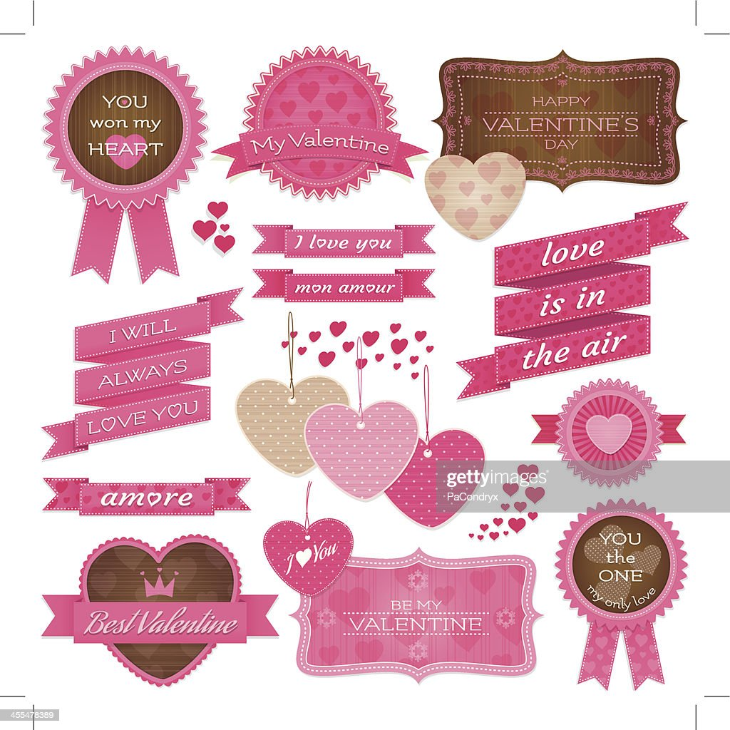 Valentine's Tags and labels : Vector Art