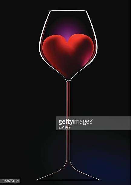 valentines wine - red wine stock illustrations, clip art, cartoons, & icons
