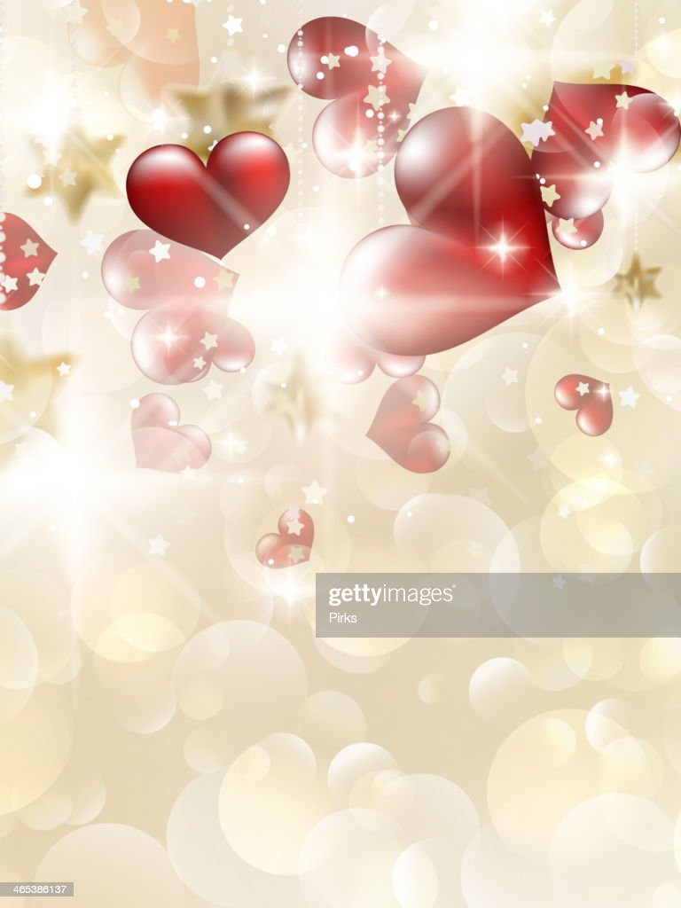Valentin`s Day Card With Hearts. EPS 10