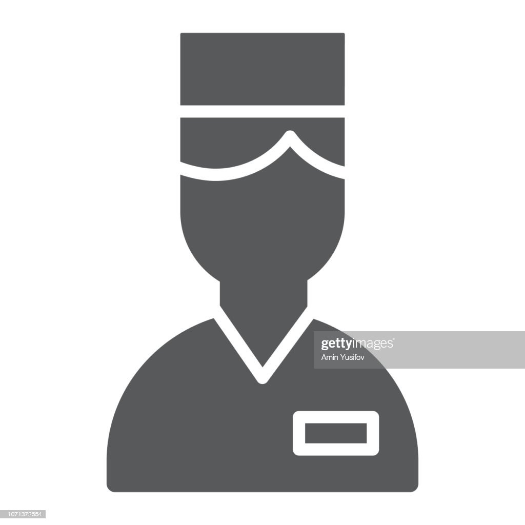 Valet glyph icon, hotel and service, concierge sign, vector graphics, a solid pattern on a white background.