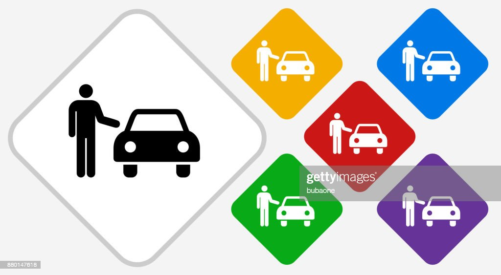 Valet Parking Car Color Diamond Vector Icon Vector Art Getty Images