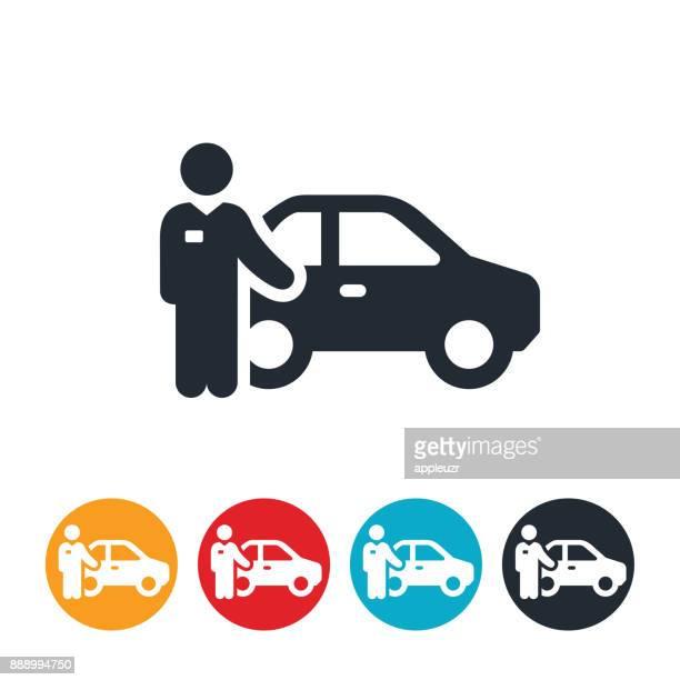 valet parking icon - parking stock illustrations, clip art, cartoons, & icons