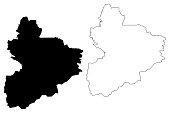 Vallee du Bandama District map vector