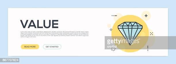 Value Concept - Flat Line Web Banner
