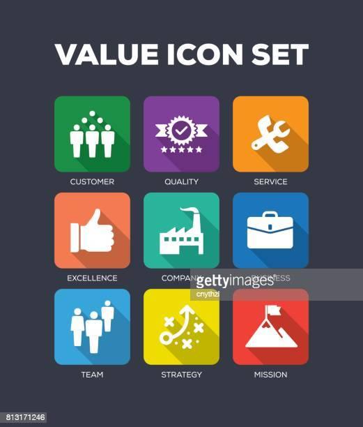 Value Flat Icon Set
