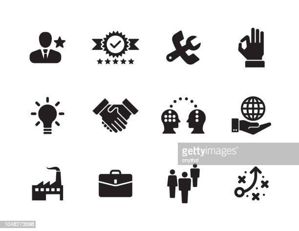 value icon set - sharing stock illustrations