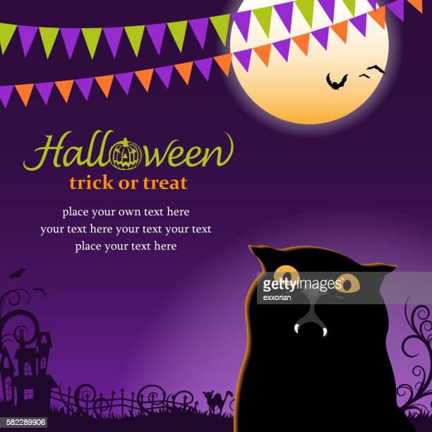 vampire cat party - halloween cats stock illustrations