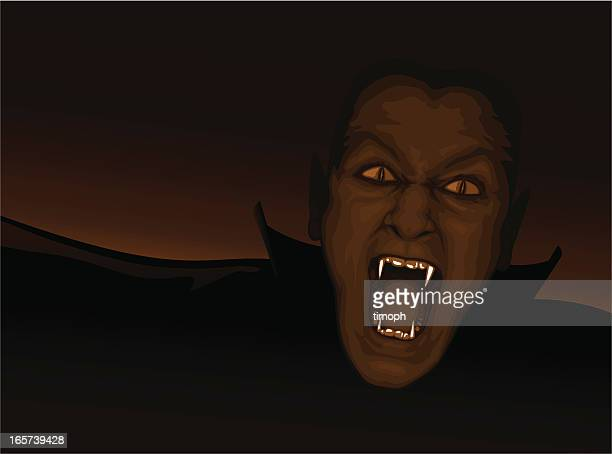 vampire face - count dracula stock illustrations, clip art, cartoons, & icons