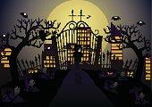 Vampire in the cemetery