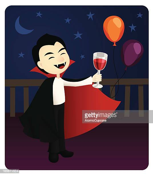 vampire toasting at a party - count dracula stock illustrations, clip art, cartoons, & icons