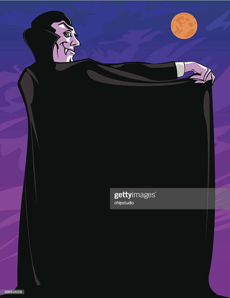 Vampire with Cape : stock illustration