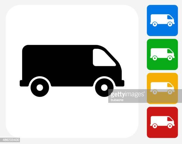 Van Icon Flat Graphic Design