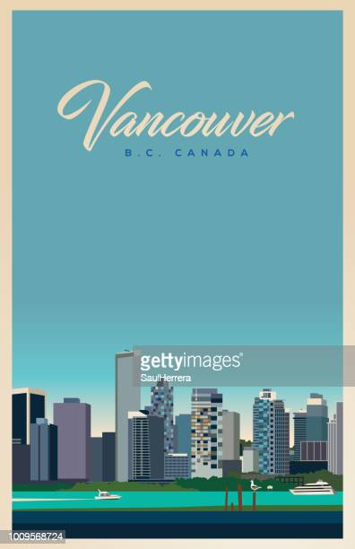 vancouver b.c. - vancouver canada stock illustrations