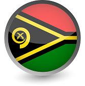 Vanuatu Flag Round Glossy Icon