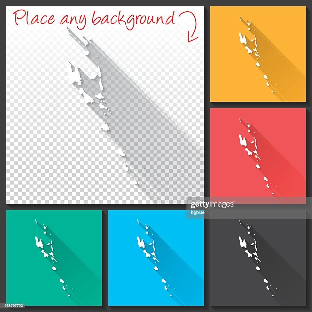 Vanuatu Map For Design Long Shadow Flat Design Vector Art | Getty Images