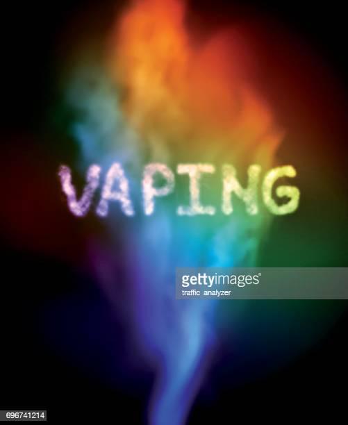 vape smoke - electronic cigarette stock illustrations, clip art, cartoons, & icons