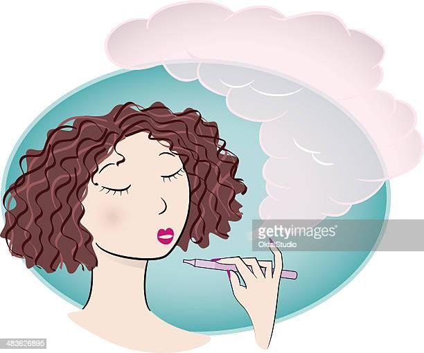 vaper - electronic cigarette stock illustrations, clip art, cartoons, & icons