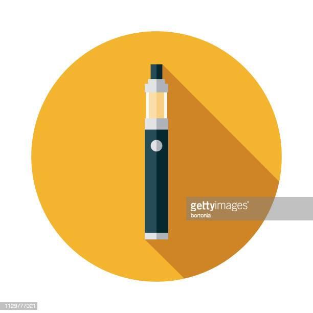 ilustraciones, imágenes clip art, dibujos animados e iconos de stock de vaporizador de drogas icono - fumar marihuana