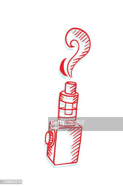 vaporizer - electronic cigarette stock illustrations, clip art, cartoons, & icons