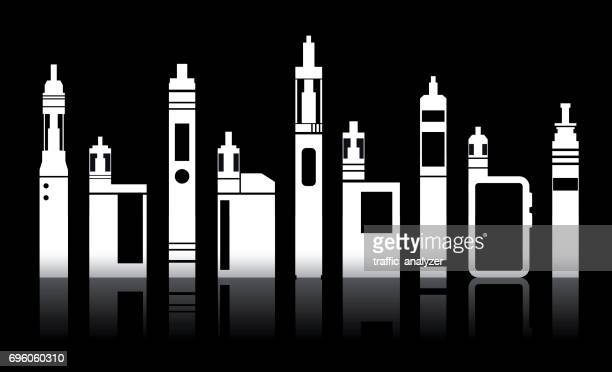 vaporizers - electronic cigarette stock illustrations, clip art, cartoons, & icons