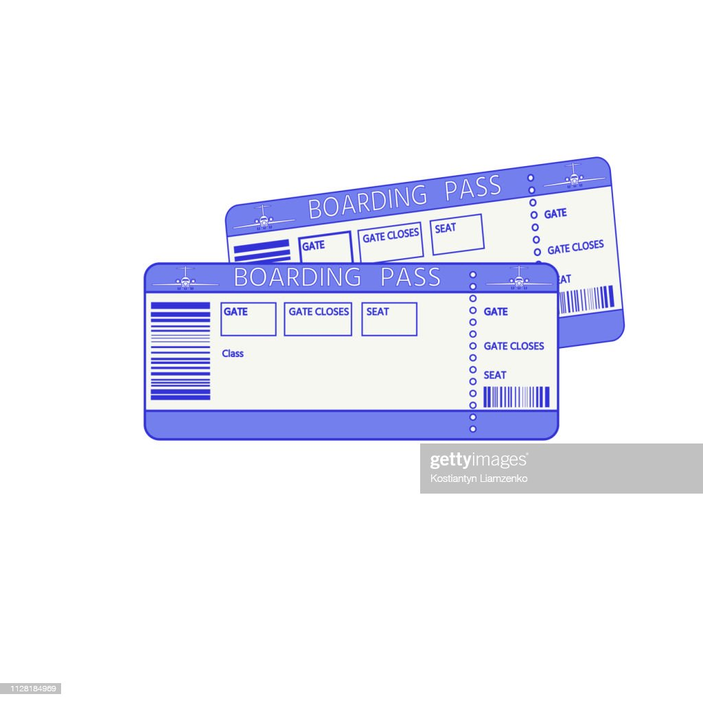 Variant of air ticket (Boarding pass).