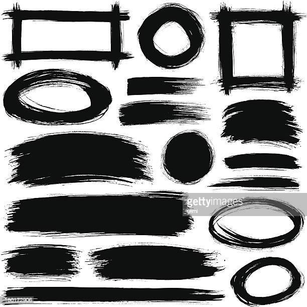 ブラシストローク - つぎあて点のイラスト素材/クリップアート素材/マンガ素材/アイコン素材