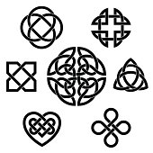 Variety of celtic knots