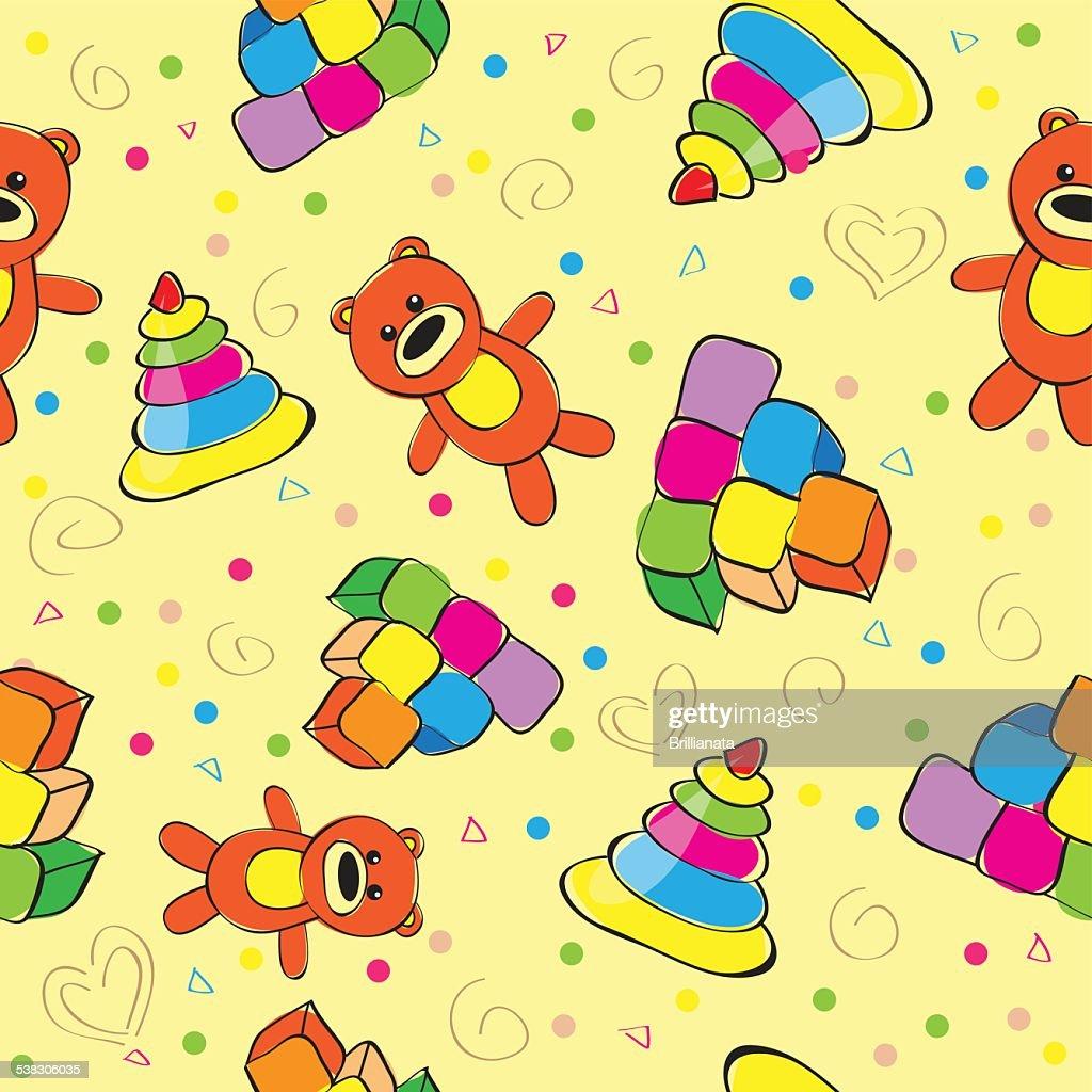 Variety of childrens toys